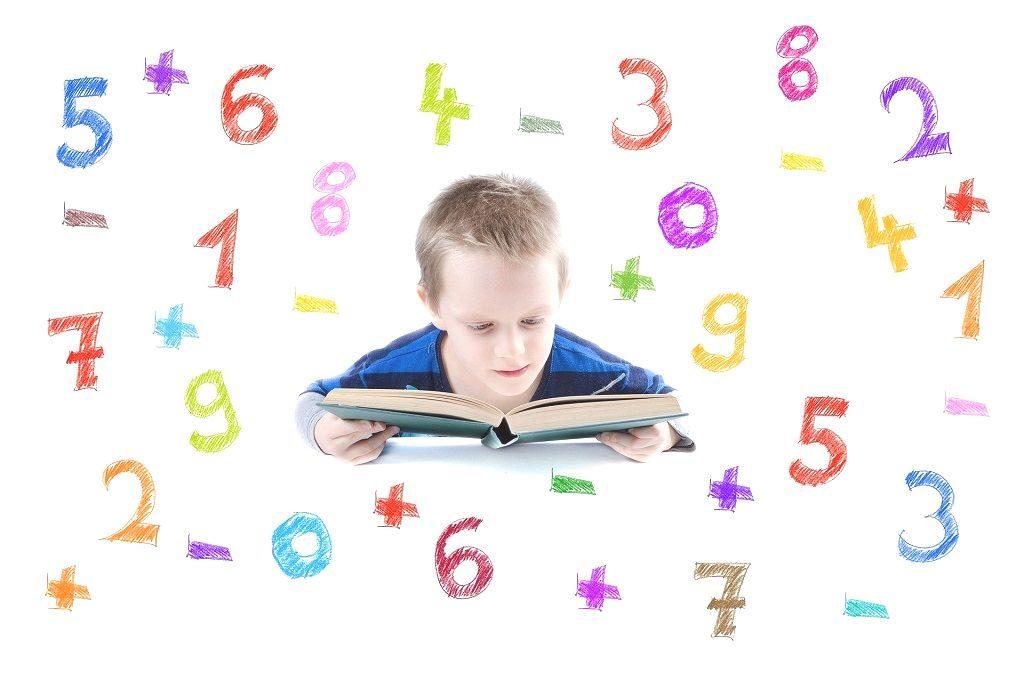 正の数と負の数の勉強をイメージした画像